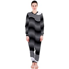 Two Layers Consisting Of Curves With Identical Inclination Patterns OnePiece Jumpsuit (Ladies)