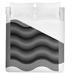 Two Layers Consisting Of Curves With Identical Inclination Patterns Duvet Cover (queen Size)