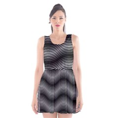Two Layers Consisting Of Curves With Identical Inclination Patterns Scoop Neck Skater Dress