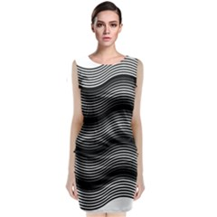 Two Layers Consisting Of Curves With Identical Inclination Patterns Classic Sleeveless Midi Dress