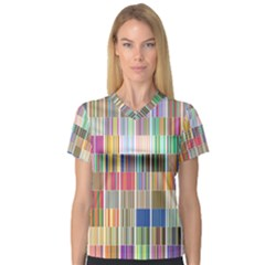 Overlays Graphicxtras Patterns Women s V-Neck Sport Mesh Tee