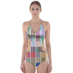 Overlays Graphicxtras Patterns Cut-Out One Piece Swimsuit