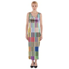 Overlays Graphicxtras Patterns Fitted Maxi Dress