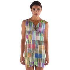 Overlays Graphicxtras Patterns Wrap Front Bodycon Dress