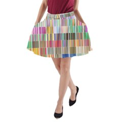 Overlays Graphicxtras Patterns A-Line Pocket Skirt
