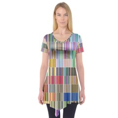 Overlays Graphicxtras Patterns Short Sleeve Tunic