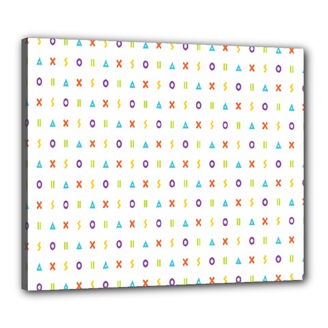 Sign Pattern Canvas 24  x 20
