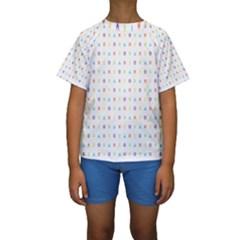 Sign Pattern Kids  Short Sleeve Swimwear