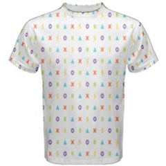 Sign Pattern Men s Cotton Tee