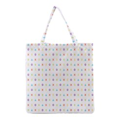 Sign Pattern Grocery Tote Bag