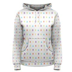 Sign Pattern Women s Pullover Hoodie