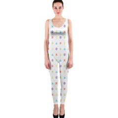 Sign Pattern Onepiece Catsuit
