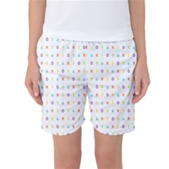 Sign Pattern Women s Basketball Shorts