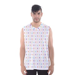 Sign Pattern Men s Basketball Tank Top
