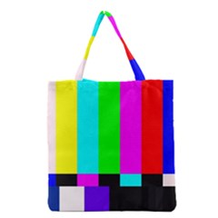 Color Bars & Tones Grocery Tote Bag