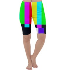 Color Bars & Tones Cropped Leggings