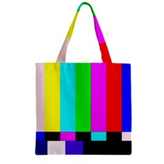 Color Bars & Tones Zipper Grocery Tote Bag