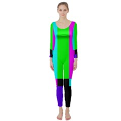 Color Bars & Tones Long Sleeve Catsuit