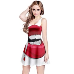 Mouth Jaw Teeth Vampire Blood Reversible Sleeveless Dress