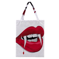 Mouth Jaw Teeth Vampire Blood Classic Tote Bag