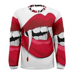 Mouth Jaw Teeth Vampire Blood Men s Long Sleeve Tee