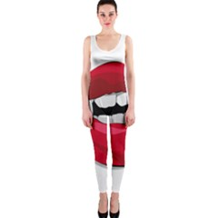 Mouth Jaw Teeth Vampire Blood OnePiece Catsuit