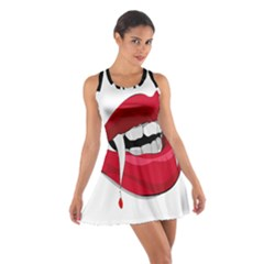 Mouth Jaw Teeth Vampire Blood Cotton Racerback Dress