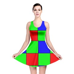 Bayer Pattern Reversible Skater Dress