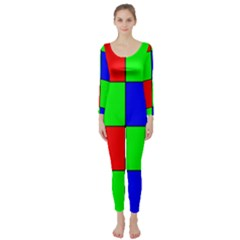 Bayer Pattern Long Sleeve Catsuit