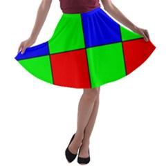 Bayer Pattern A Line Skater Skirt