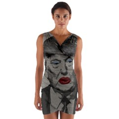 Transgender president    Wrap Front Bodycon Dress