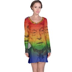 Rainbow Trump  Long Sleeve Nightdress