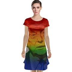 Rainbow Trump  Cap Sleeve Nightdress