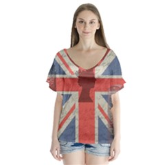 Vintage London Flutter Sleeve Top