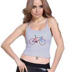 Bicycle Sports Drawing Minimalism Spaghetti Strap Bra Top
