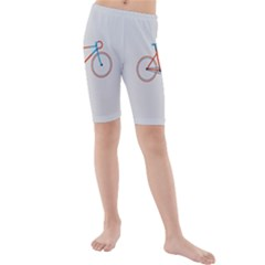Bicycle Sports Drawing Minimalism Kids  Mid Length Swim Shorts