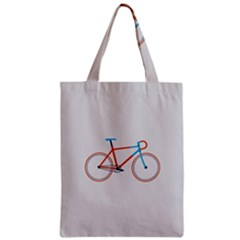Bicycle Sports Drawing Minimalism Zipper Classic Tote Bag