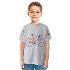 Bicycle Sports Drawing Minimalism Kids  Sport Mesh Tee