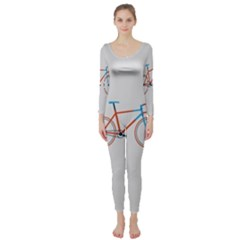 Bicycle Sports Drawing Minimalism Long Sleeve Catsuit