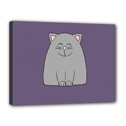Cat Minimalism Art Vector Canvas 16  X 12