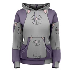 Cat Minimalism Art Vector Women s Pullover Hoodie