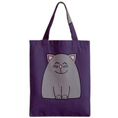 Cat Minimalism Art Vector Zipper Classic Tote Bag
