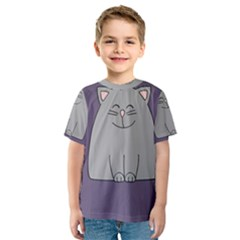 Cat Minimalism Art Vector Kids  Sport Mesh Tee