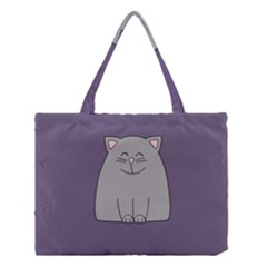 Cat Minimalism Art Vector Medium Tote Bag