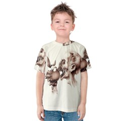 Zombie Apple Bite Minimalism Kids  Cotton Tee
