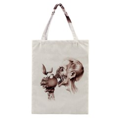 Zombie Apple Bite Minimalism Classic Tote Bag