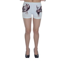 Zombie Apple Bite Minimalism Skinny Shorts