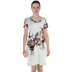 Zombie Apple Bite Minimalism Short Sleeve Nightdress