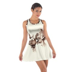 Zombie Apple Bite Minimalism Cotton Racerback Dress