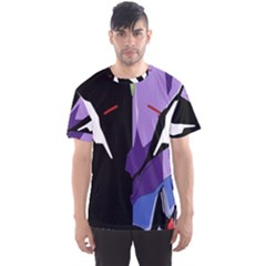 Monster Face Drawing Paint Men s Sport Mesh Tee